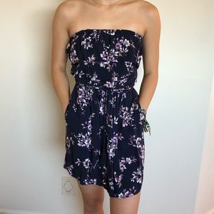 Ruffle Flordal Mini Dress